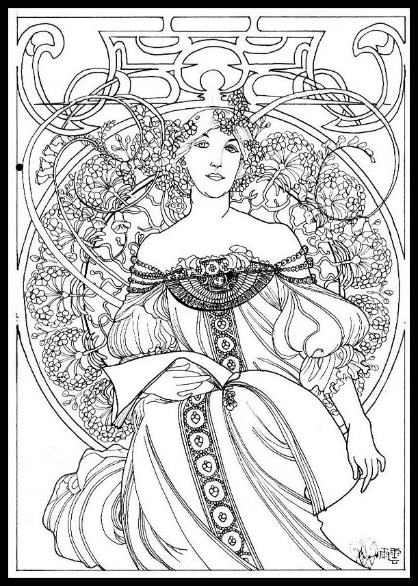 Mucha Style By Lillungallad On DeviantART