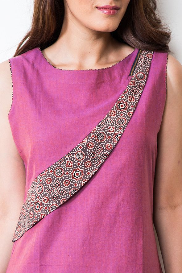 Dress- ajrakh panelled SAM/DRS/12