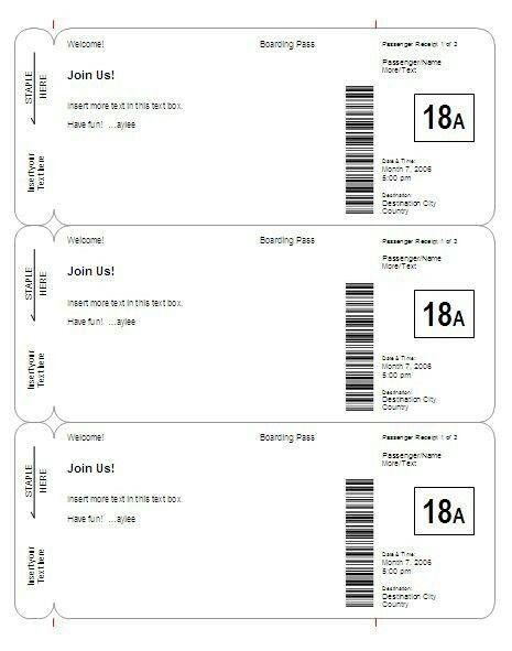 102 best Sunday school passports images on Pinterest Passport - plane ticket invitation template