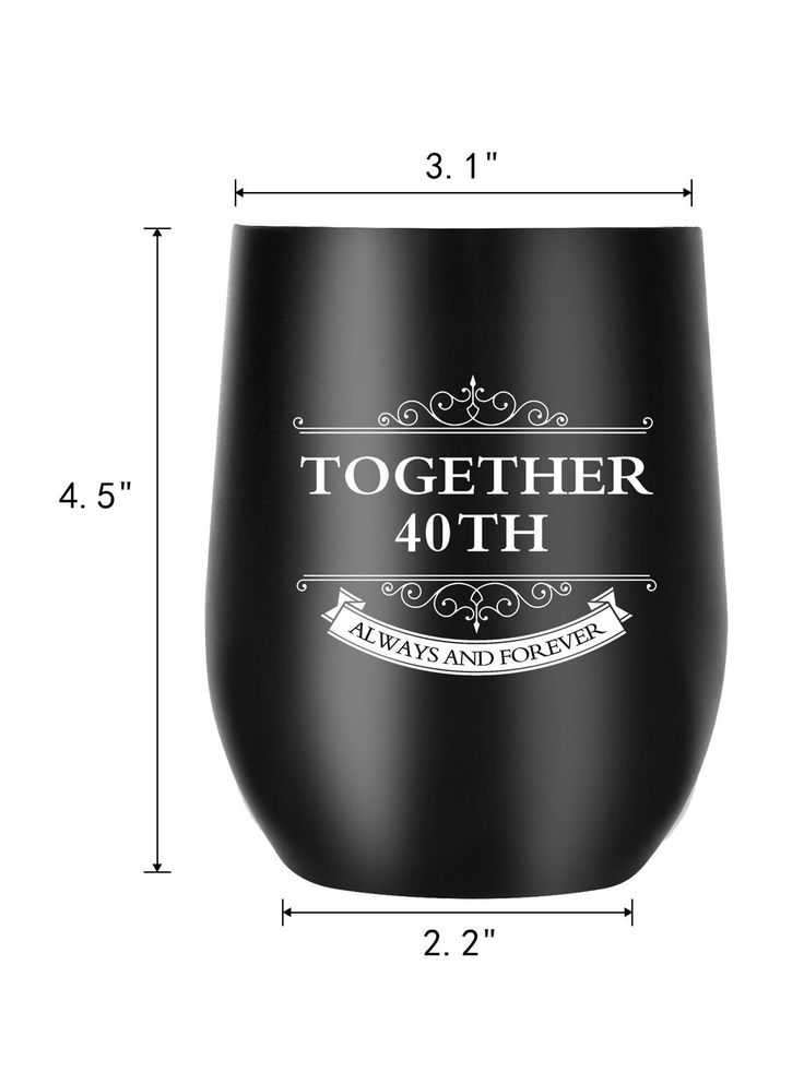 40th anniversary gifts for men women wife husband couple