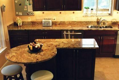 interesting kitchen granite countertops | Unique Kitchen Island , granite countertops | http://www ...