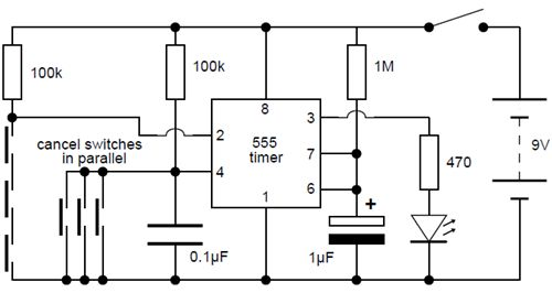 Simple Electronic Lock Circuit Diagram
