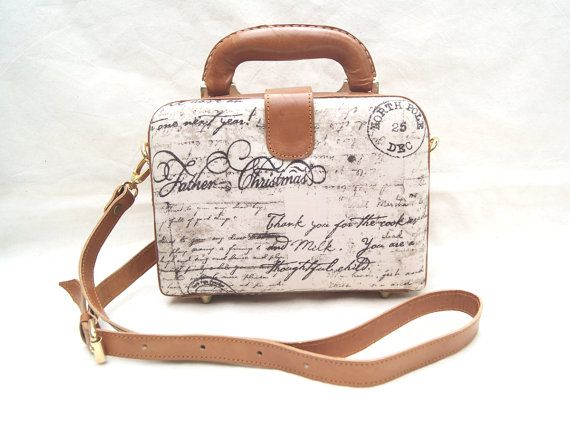 Brown Retro Bag Purse Box by CoruscateLeatherBag on Etsy, $108.00