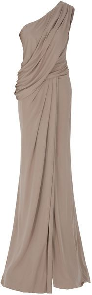 One Shoulder Draped Gown, Elie Saab. Sort of Greek