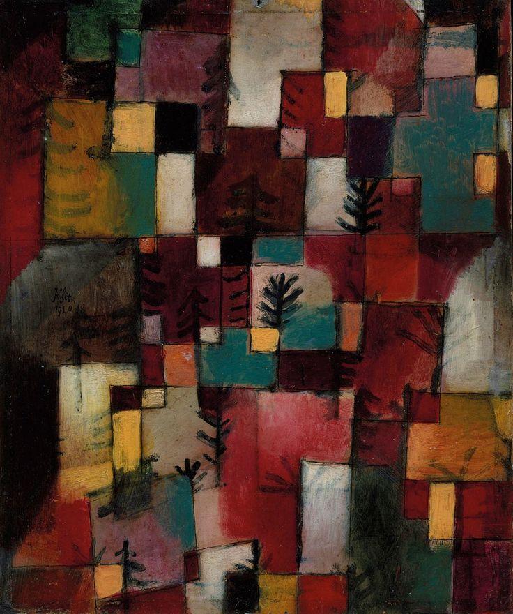 Paul Klee Redgreen and Violet-Yellow Rhythms   Paul Klee