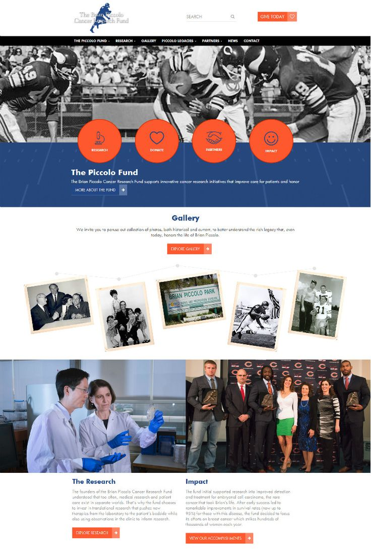 Proud to showcase another website! The Brian Piccolo Fund. Contact us at lucca.am to build your website!
