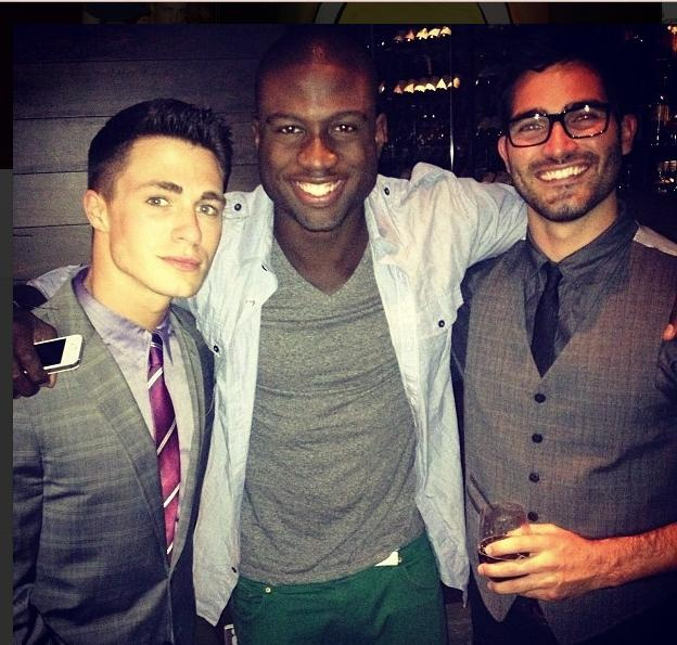 Colton (Jackson), Sinqua (Boyd) and Tyler (Derek) behind the scenes of Teen Wolf.