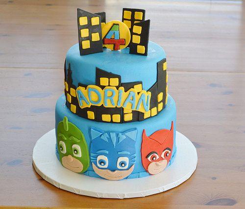 Decoración de Tortas de Héroes en Pijamas: Pasteles de PJ Masks para Cumpleaños