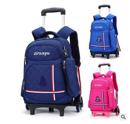 44.64$  Buy now - http://alice9.shopchina.info/go.php?t=32788598492 - Kids Wheel Backpack kids Rolling Backpack for School Children Trolley School Backpack Kids Travel trolley luggage bag On wheels  44.64$ #magazineonline