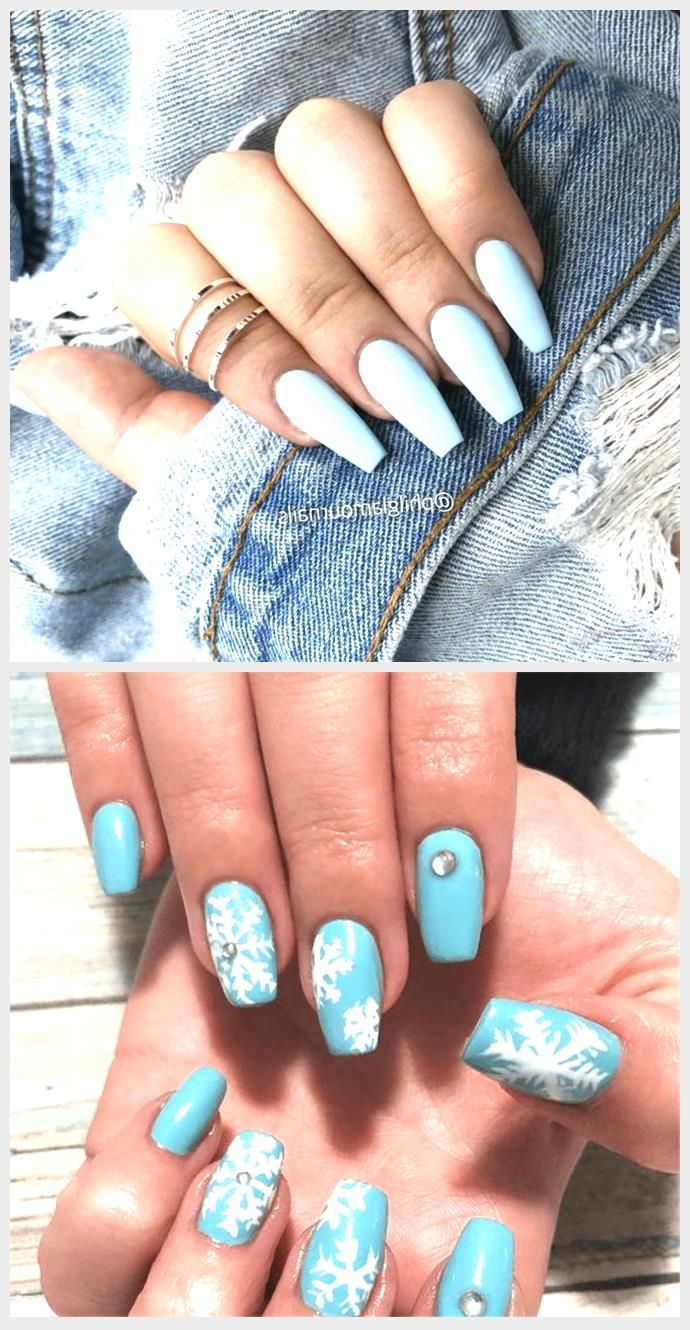 Acrylic Nails Blue Baby Matte Nails Are One Of The Hottest Trends In Autumn And In 2020 Blue Nails Blue Acrylic Nails Blue Glitter Nails