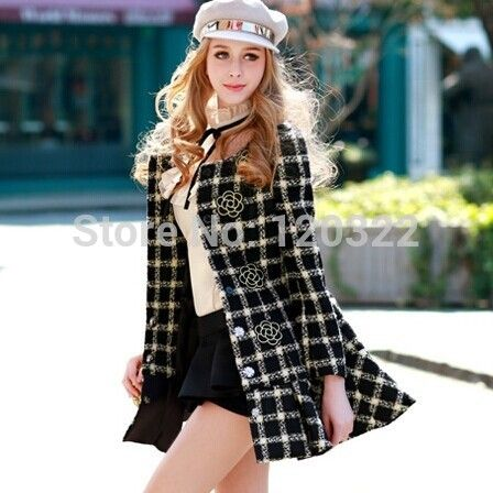 Оригинальный бренд осень и зима черный плед тонкий мода особенно шерстяной юбке женский жакет женщин оптовая продажа