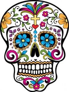 dia de los muertos artwork is so cool