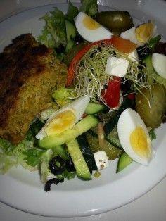 Gehaktbrood van kip  kalkoen met groenten