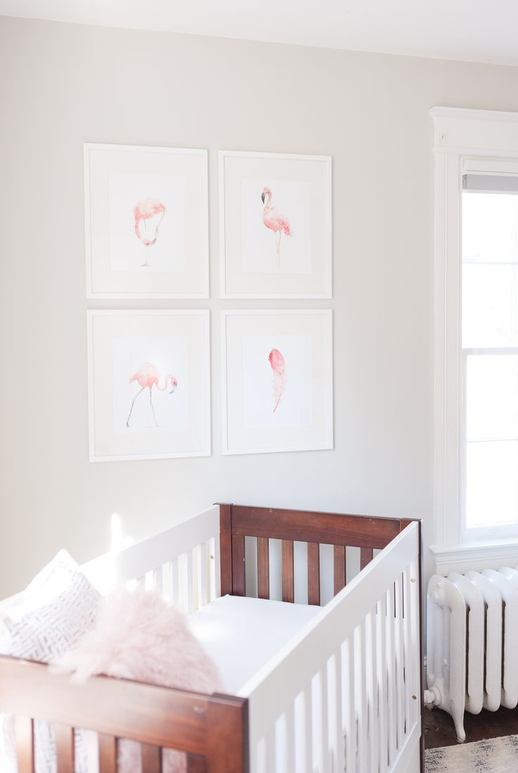 nursery with white furniture. Modern Nursery With A Pop Of Pink White Furniture