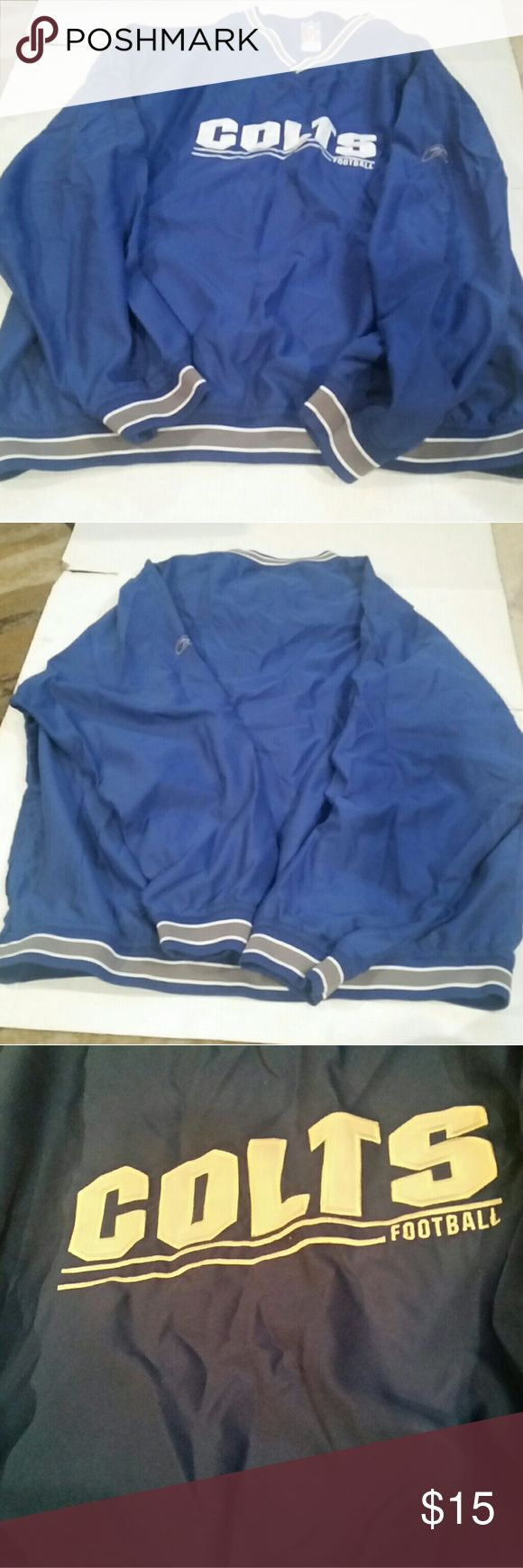 Reebok NFL COLTS Pullover XL Very nice, color isn't showing up in the best light.  The 1st 2 pictures are pretty good for the color. In good condition! XL Reebok Jackets & Coats Performance Jackets