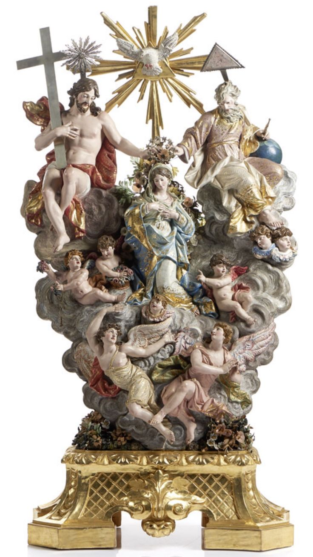 Coronación de la Virgen, Joaquim José de Barros Laborão (1762-1820) Donación de Philippe Mendes al Museu Nacional de Arte Antiga en 2016 Lisboa