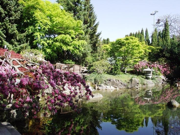 Kasugai Japanese Garden at Queensway and Water Street, Kelowna, British Columbia, Canada