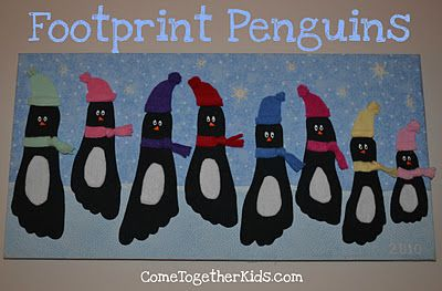 DIY Footprint Penguins TUTORIAL