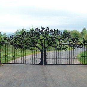 Custom Entry Gate: Ornametals And Finer Welding, Inc / green home