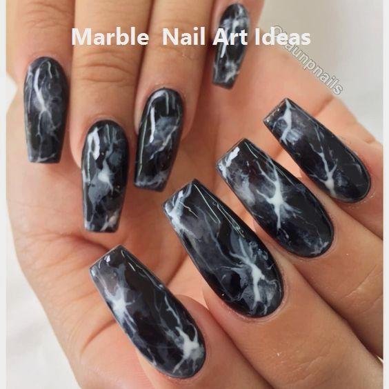 Die neuesten Ideen für Acrylnageldesigns sind … – Marble Nails for You