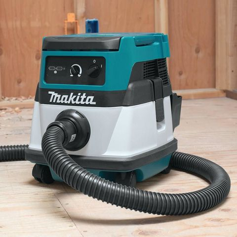 Makita Cordless/Corded Vacuum Announced  Makita really cleans up with its new HEPA filter vacuum that operates with a cord OR with 18V batteries - check out the Makita Cordless/Corded Vacuum! #makita #vacuum #cordless #18V  https://www.protoolreviews.com/tools/power/cordless/vacuums/makita-cordless-corded-vacuum-announced/27427/