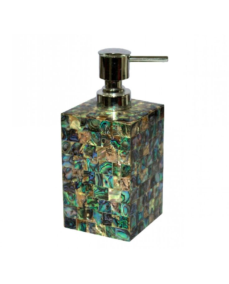 Green Mother Of Pearl soap dispenser  soap dispenser  bathroom Accessories  Opulent Home. 1000  images about Mother Of pearl accessories on Pinterest   Jars
