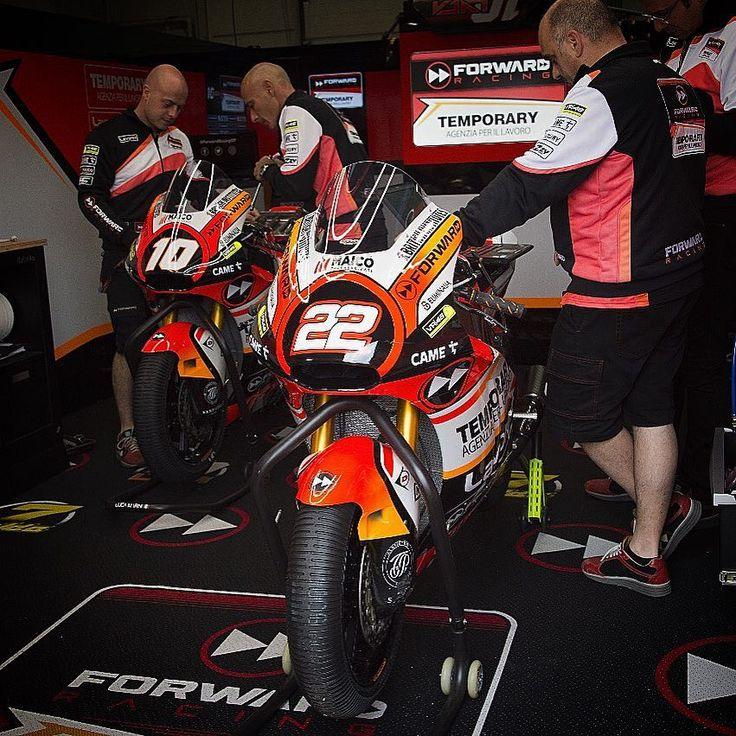 FP3 is coming soon! Weather update: cloudy & dry 🙌🏻🇩🇪 #ForwardRacing #SuperMaro #GermanGP #MotoGP #Moto2