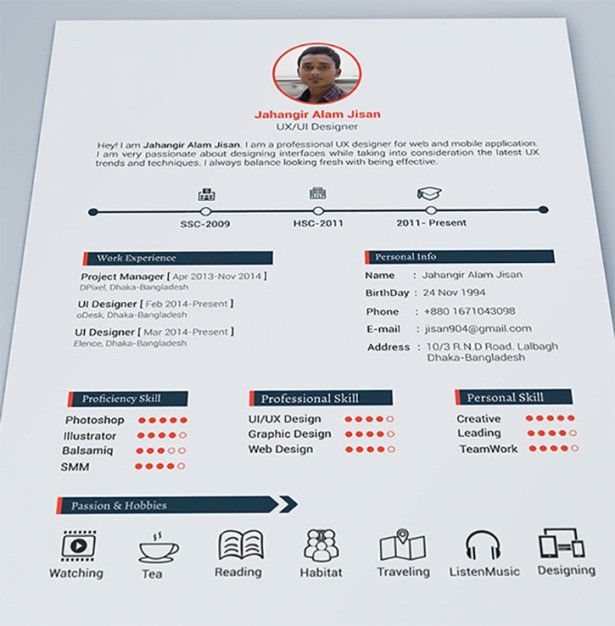 Clean And Simple  Get Your Dream Job With These Creative Ideas To Make Your CV Awesome • Page 2 of 5 • BoredBug