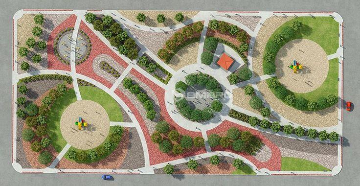 planos de parques en 3d