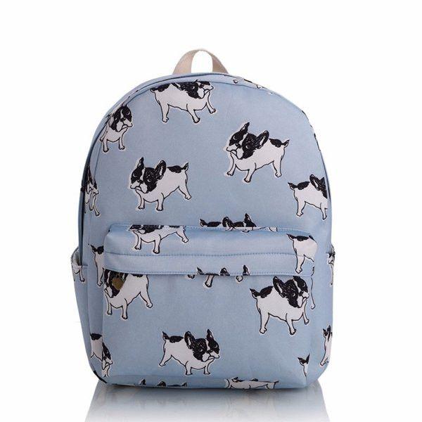 Women Canvas Backpac Retro Cartoon Backpack Multi-Color Bag