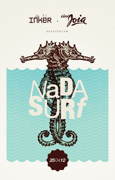 Nada Surf concert poster by Renan Benvenutti