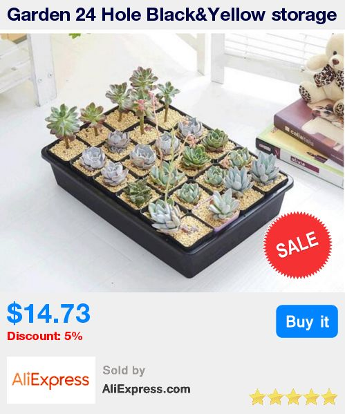 Garden 24 Hole Black&Yellow storage type nursery tray pots 44.5cm*30cm*8.5cm * Pub Date: 06:39 Jul 11 2017