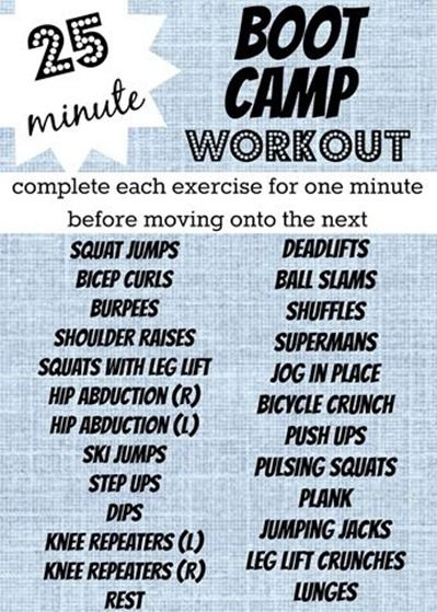 25 Minute Boot Camp Workout