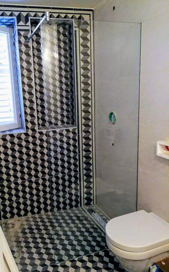 Bathroom ideas Modern bathroom Glass shower Fixed glass screen