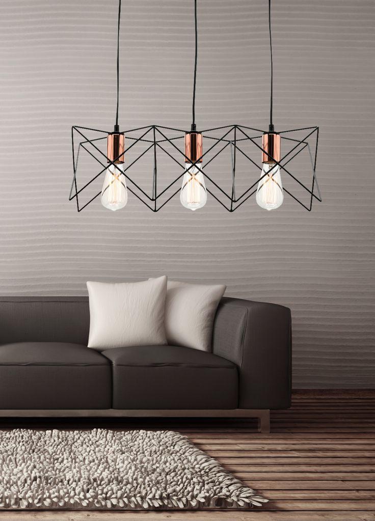 Niko 3 Light Pendant #MercatorLighting #IndustrialLighting #InteriorDesign #Modern #Lifestyle