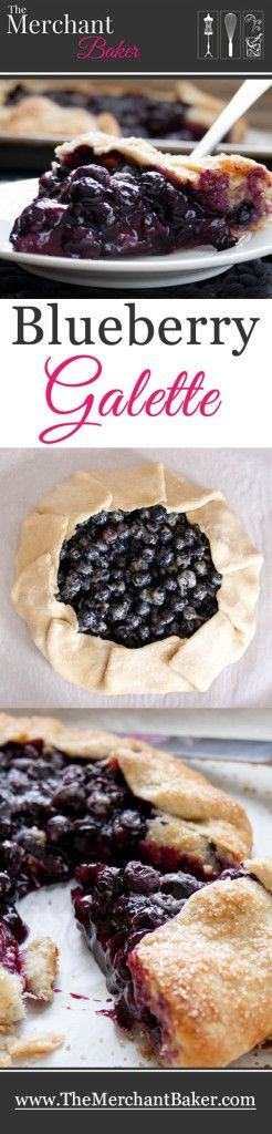 Blueberry Galette.  Fresh blueberries baked in an all butter pie crust comes together so easily, it will change your mind about making homemade pie!