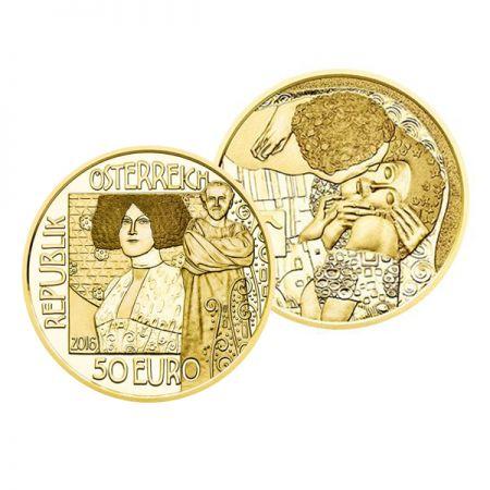 Klimt, ''The Kiss'', 50€ gold coin, 986, AU,Austria, 2016