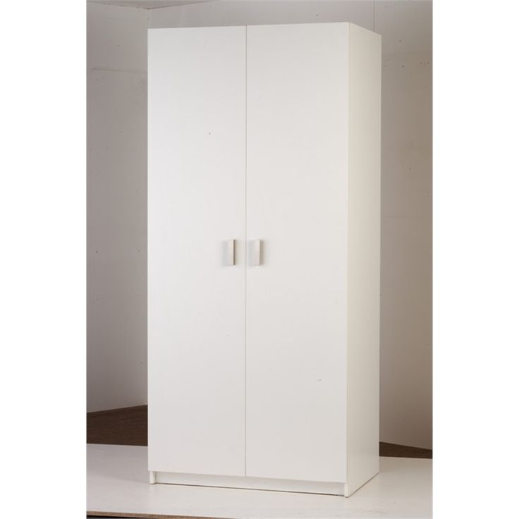 Bedford 900mm White 2 Door Wardrobe