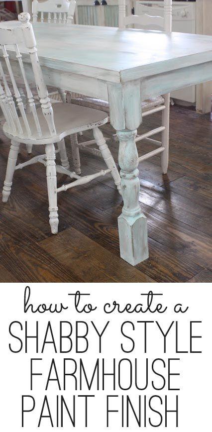 #Shabby #Chic - how to create a shabby farmhouse paint finish - so easy... http://www.myshabbychicstore.com