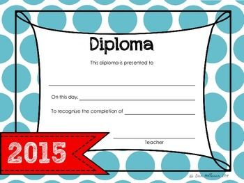 Use this diploma to celebrate your graduates' accomplishments!This diploma was designed to complement the activities included in my Graduation Celebration and Activity Bundle. It can be used for any grade level. If you like this product please be sure to check out my End of the Year Awards!