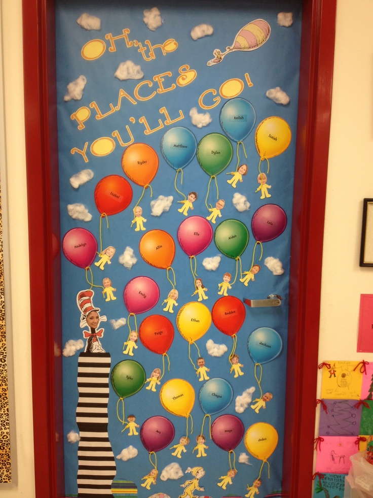 Classroom Ideas To Go ~ Oh the places you ll go door decoration for classroom