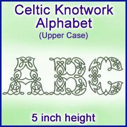 A Celtic Knotwork Alphabet (5 Inch Height)