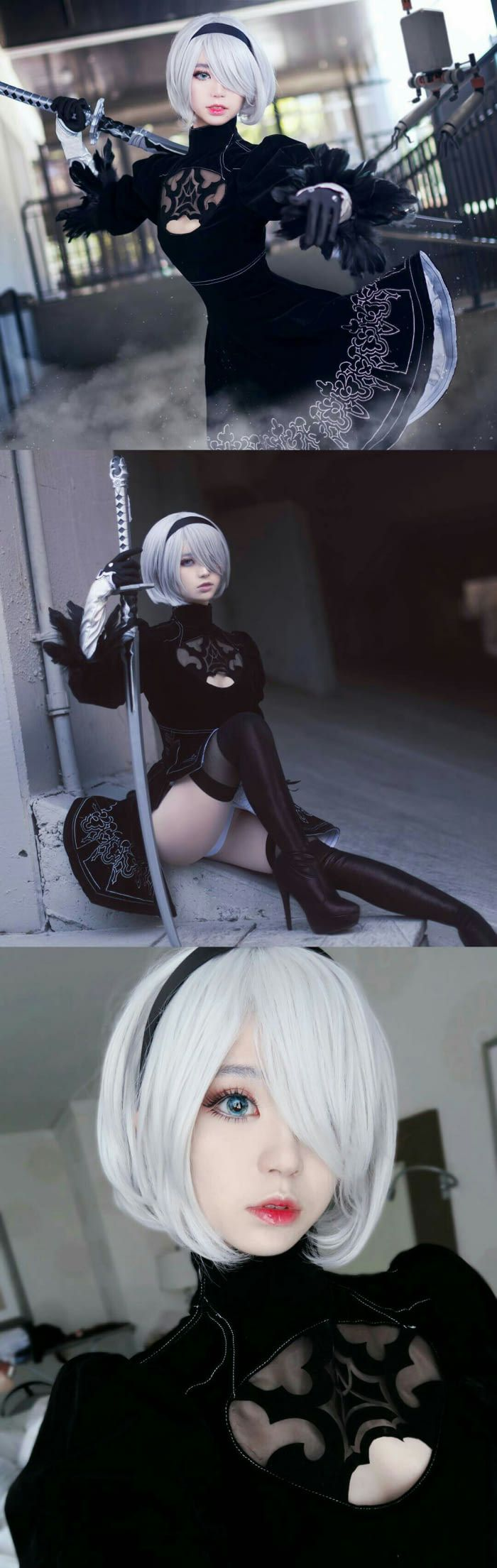 Such a really Goddamn beautiful cosplay of 2B from Nier Automata! (no trap confirmed)