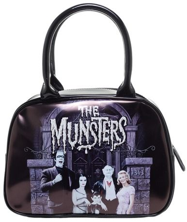 Rock Rebel GG Rose Munster Family Coach Bowler Handbag Purse Monsters TV Herman