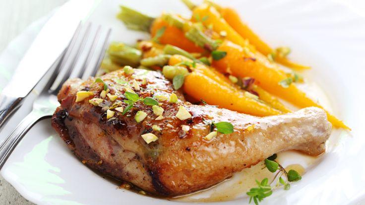 Cuisses de poulet glacées à la gelée de piments