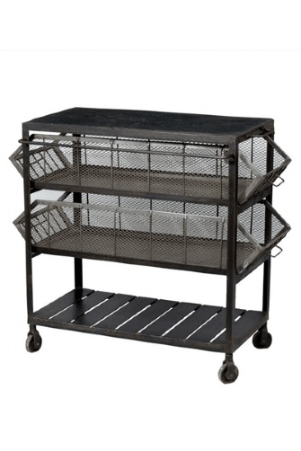 Industrial Kitchen Storage Unit with Slate Top (142), $806