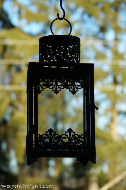Another beautiful lantern hanging outside the house. #Finland