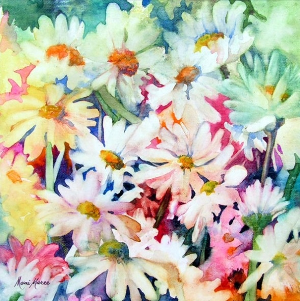 Watercolor Daisies By Marni Maree Paintings Pinterest