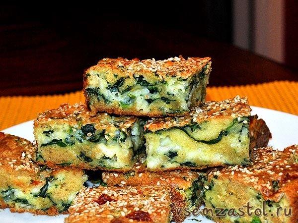 Очень легкий рецепт пирога с брынзой и шпинатом