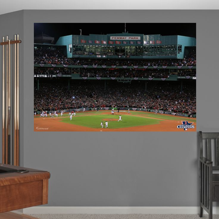 Boston Red Sox - 2013 World Series Fenway Celebration Mural   Boston Red Sox Wall Decal   Sports Décor